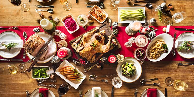 Guarniciones saludables para cena de Navidad