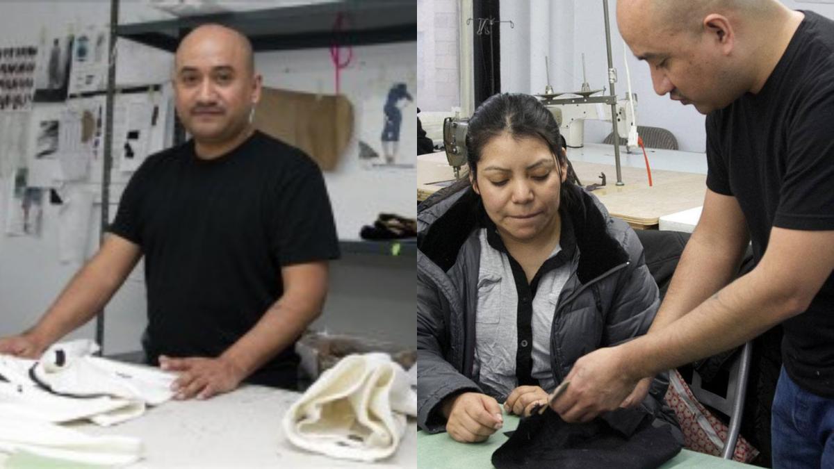 costurero mexicano y trabajadora