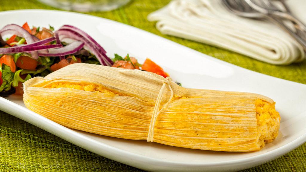Tamales en restaurante gourmet